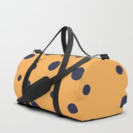 Blue Dots on Orange Duffle Bag