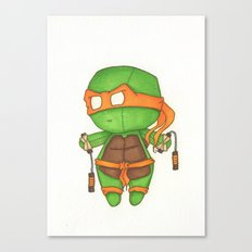 Mini TMNT Mikey  Canvas Print