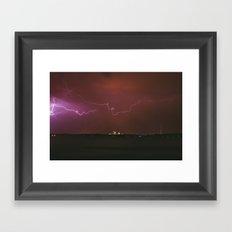 Storm Over Minneapolis Framed Art Print