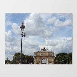 Arc du Carrousel Under the Sky Canvas Print