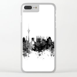 Tehran Iran Skyline Clear iPhone Case