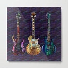 Sounds of music. Three Guitars. Metal Print