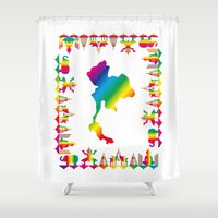 thailand Shower Curtains featuring Rainbow Thailand by FACTORIE