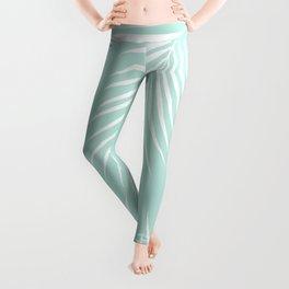 Mint Tropical Pattern Leggings
