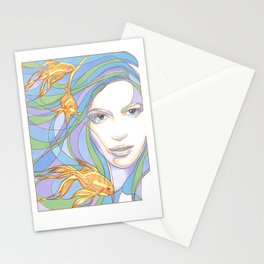 Mermaids are Dreaming Stationery Cards