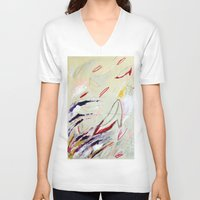 heels V-neck T-shirts featuring High Heels by Derek Boman