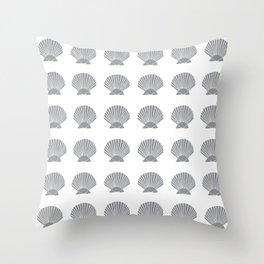Grey Seashell Throw Pillow