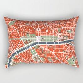 Paris city map classic Rectangular Pillow
