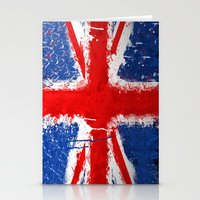 british flag Stationery Cards featuring BRITISH FLAG by Sophie