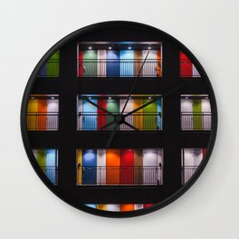 One Night in Apartment 2B Color Photographic Print Wall Clock
