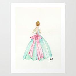 Big Pink Bow Art Print