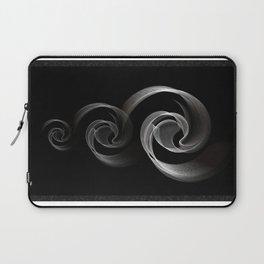 Circles black and white Laptop Sleeve