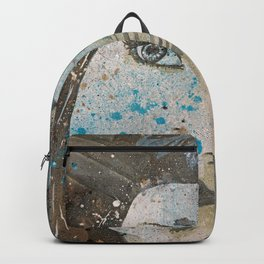 Lack Of Interest: (graffiti dark lady with daisies) Backpack