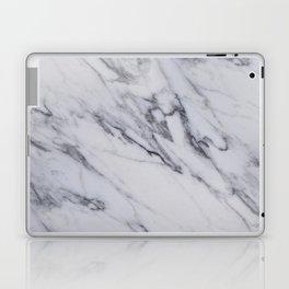 Marble - Black and White Gray Swirled Marble Design Laptop & iPad Skin