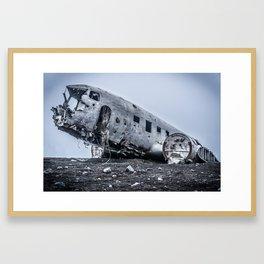 Sólheimasandur crash in Iceland Framed Art Print