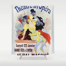 1897 Masquerade ball Paris Opera Shower Curtain