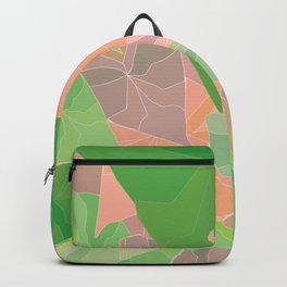 Heart Leaves Abstract Botanical Illustration Backpack