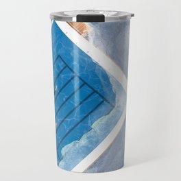 Bondi Icebergs | Aerial Illustration Travel Mug
