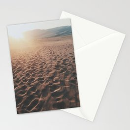 Footprints In The Desert Stationery Cards
