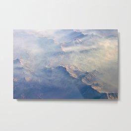Mountain Cloud Meeting Metal Print