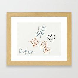 Butterflies. Framed Art Print