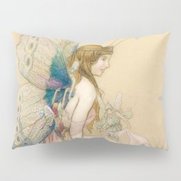"""""""There May Be Fairies"""" Art by Warwick Goble Pillow Sham"""