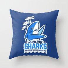 Dancing Sharks Throw Pillow