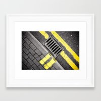 grid Framed Art Prints featuring Grid by PRE Media