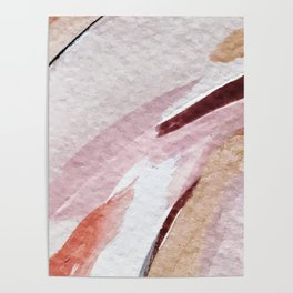 Away [2]: an abstract mixed media piece in pinks and reds Poster