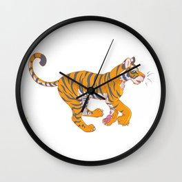 Running Bengal Tiger Wall Clock