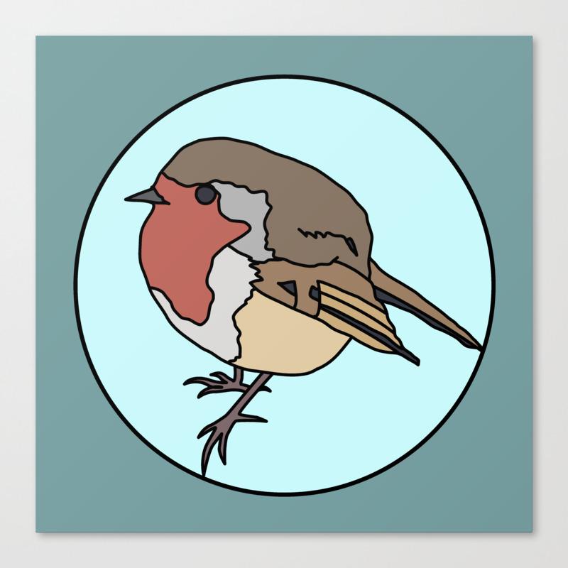 Robin - Robin Redbreast Canvas Print by Mothpathtags (CNV8909815) photo