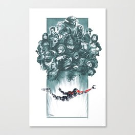 Falling Shepard Canvas Print