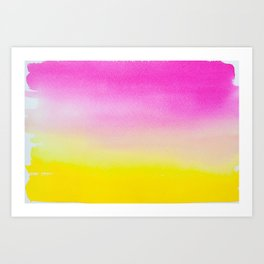 Abstract painting in modern fresh colors Art Print