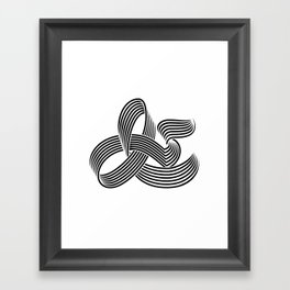 Eye bending Ampersand. Framed Art Print