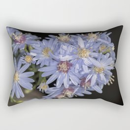 Tiny Blue Wood Aster Flowers Rectangular Pillow