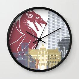 Ljubljana skyline poster Wall Clock