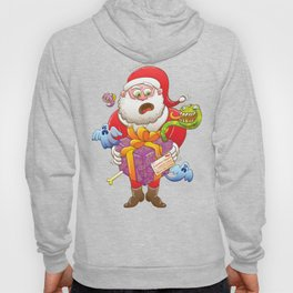 A Christmas Gift from Halloween Creepies to Santa Hoody