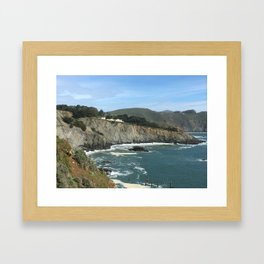 Marin Headlands Coastline Taken By a Future Rocket Scientist Framed Art Print