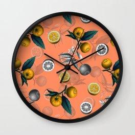 Unfinished Lemons Wall Clock