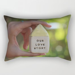 Our Love Story House Rectangular Pillow