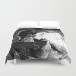 Like tears in rain - black - quote Duvet Cover