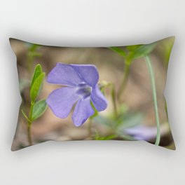 small blue flower in the forest Rectangular Pillow