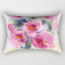 Pink Peony Bouquet Rectangular Pillow