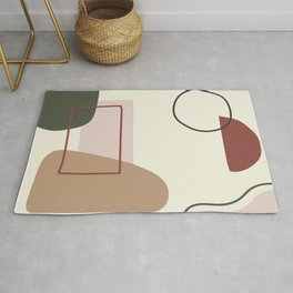 live with love - on ebony backgroung Rug