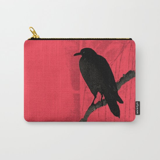 Raven in red Carry-All Pouch