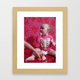 give me the cake Framed Art Print