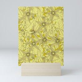 deadly nightshade chartreuse Mini Art Print