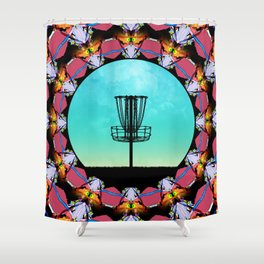 Disc Golf Abstract Basket 6 Shower Curtain