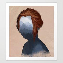 Mountain girl Art Print