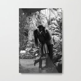 Kissing in the Climatron Metal Print